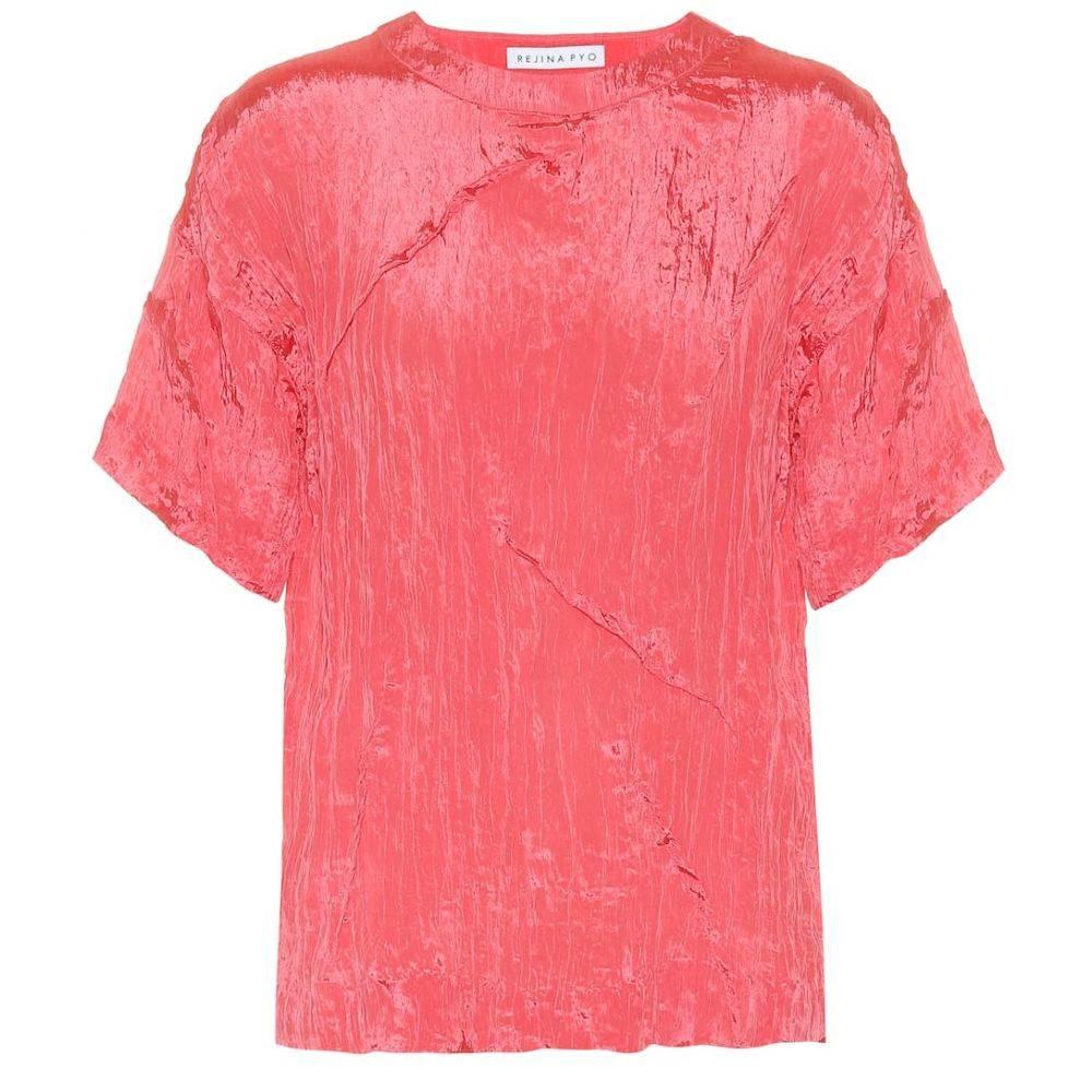 レジーナ ピヨ Rejina Pyo レディース ブラウス・シャツ トップス【Mattie satin blouse】Coral Pink
