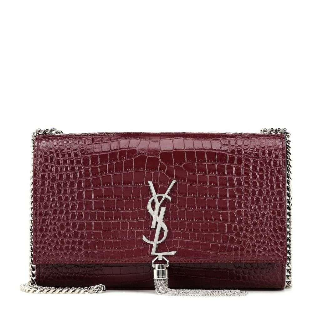 イヴ サンローラン Saint Laurent レディース ショルダーバッグ バッグ【Kate Medium leather shoulder bag】Rouge Legion