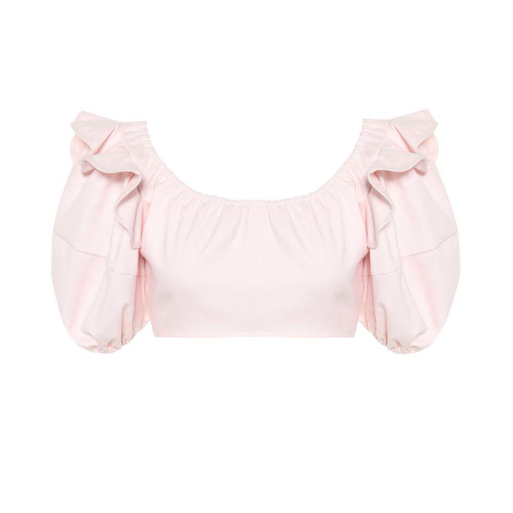 エラリー Ellery レディース ベアトップ・チューブトップ・クロップド トップス【Hilaria cotton crop top】Pink