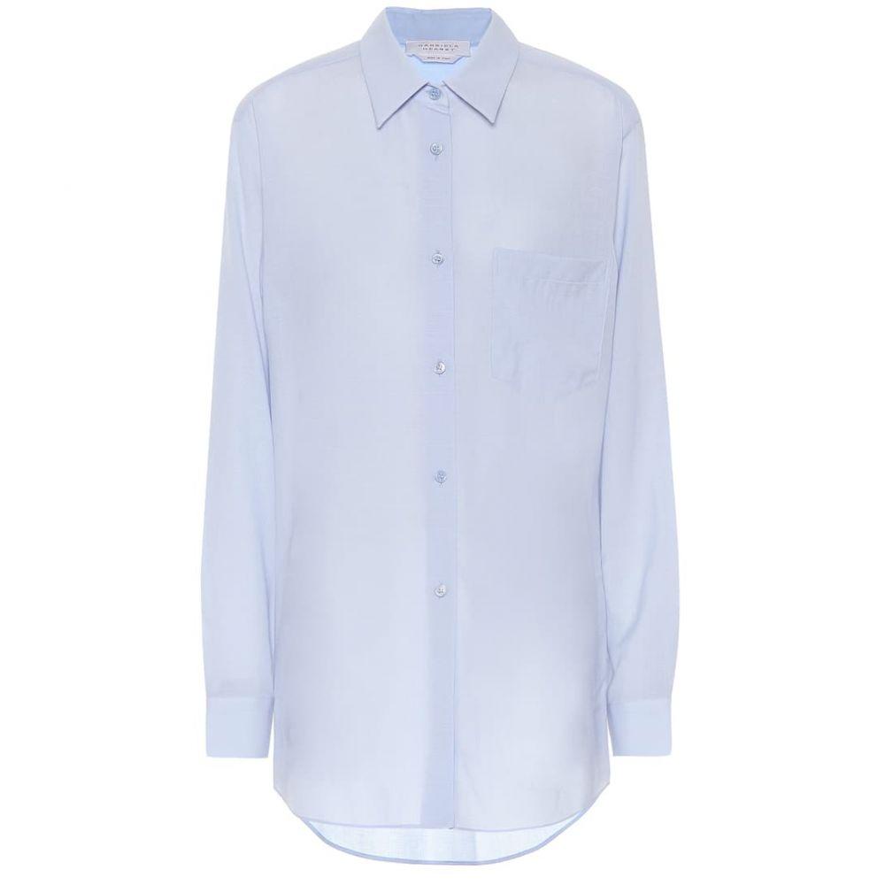 ガブリエラ ハースト Gabriela Hearst レディース ブラウス・シャツ トップス【Reyes wool and cashmere blouse】Light Blue