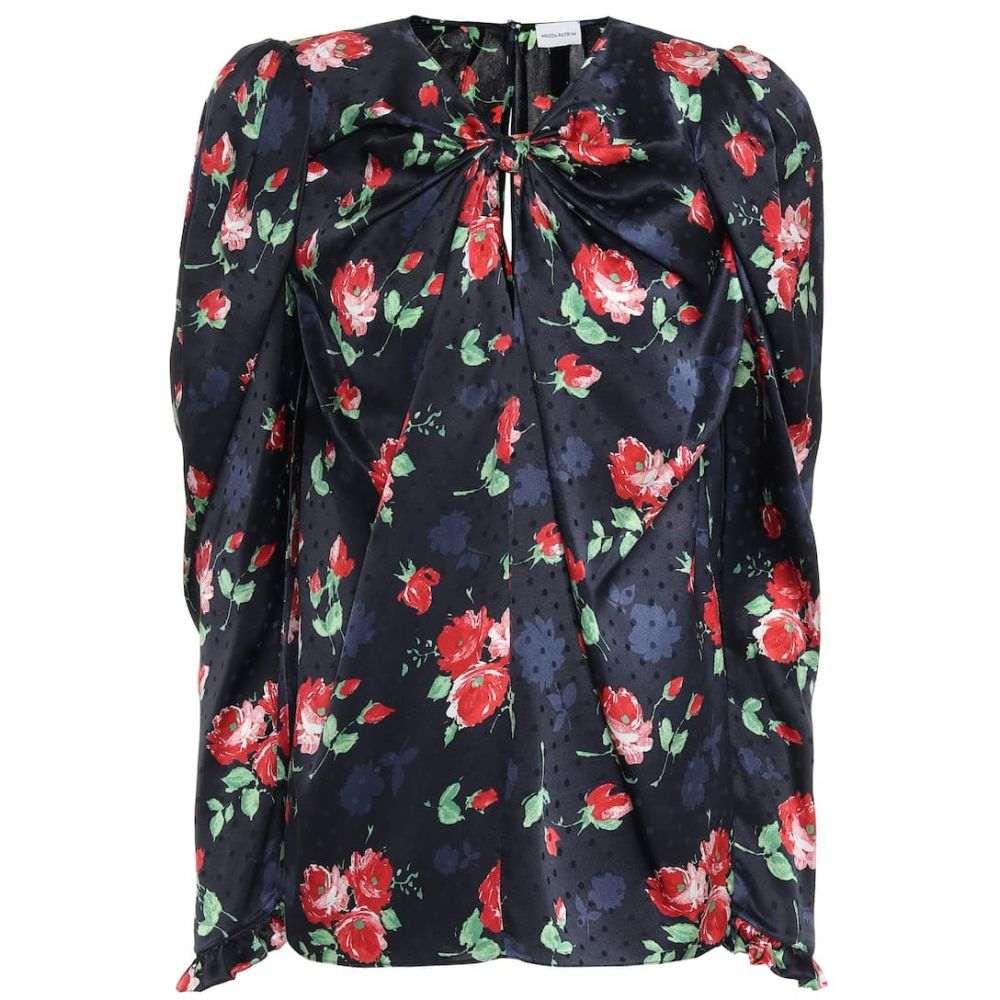マグダ ブトリム Magda Butrym レディース ブラウス・シャツ トップス【Caserta floral silk-jacquard blouse】Navy