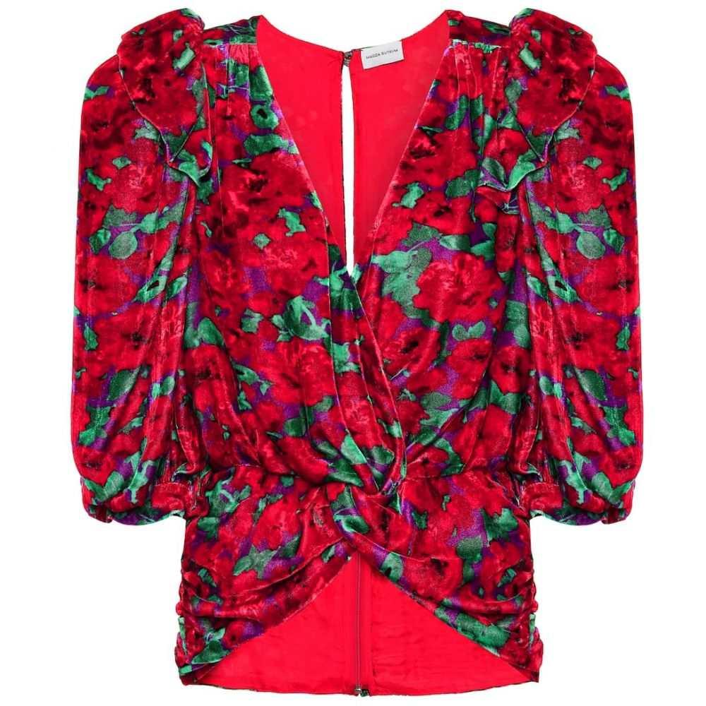 マグダ ブトリム Magda Butrym レディース ブラウス・シャツ トップス【Toledo floral velvet blouse】Red