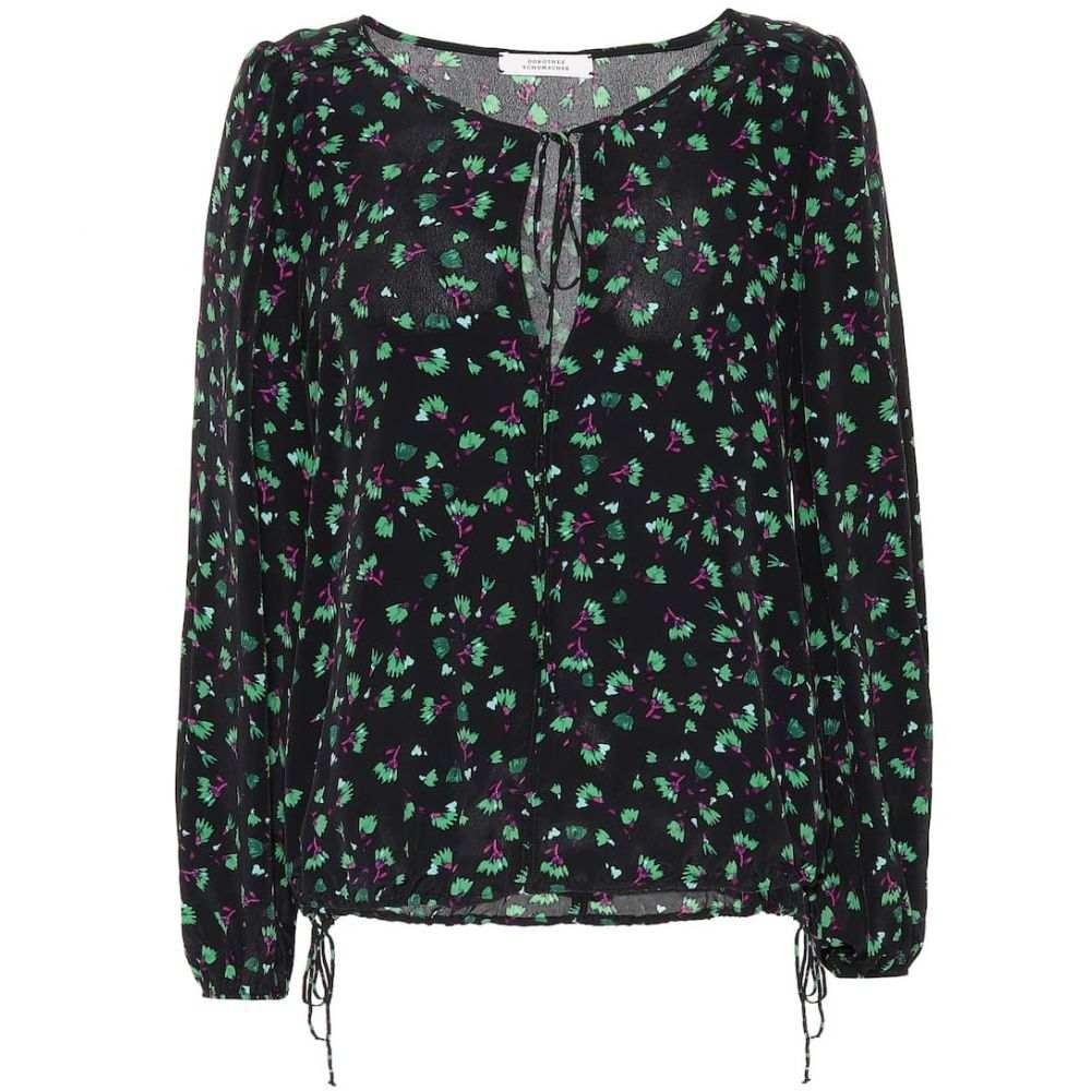 ドロシー シューマッハ Dorothee Schumacher レディース ブラウス・シャツ トップス【Simplistic Flowers silk-blend blouse】petit green