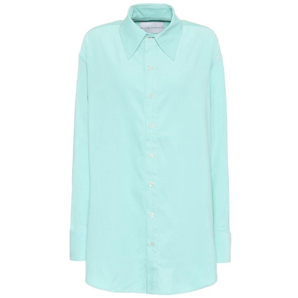 マシュー アダムズ ドーラン Matthew Adams Dolan レディース ブラウス・シャツ トップス【Cotton-corduroy oversized shirt】Sea Foam Green