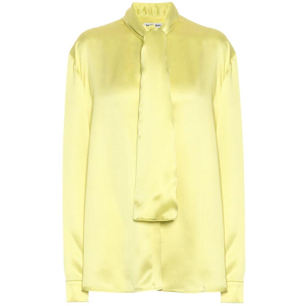 バレンシアガ Balenciaga レディース ブラウス・シャツ トップス【Silk-satin blouse】Citrus Yellow