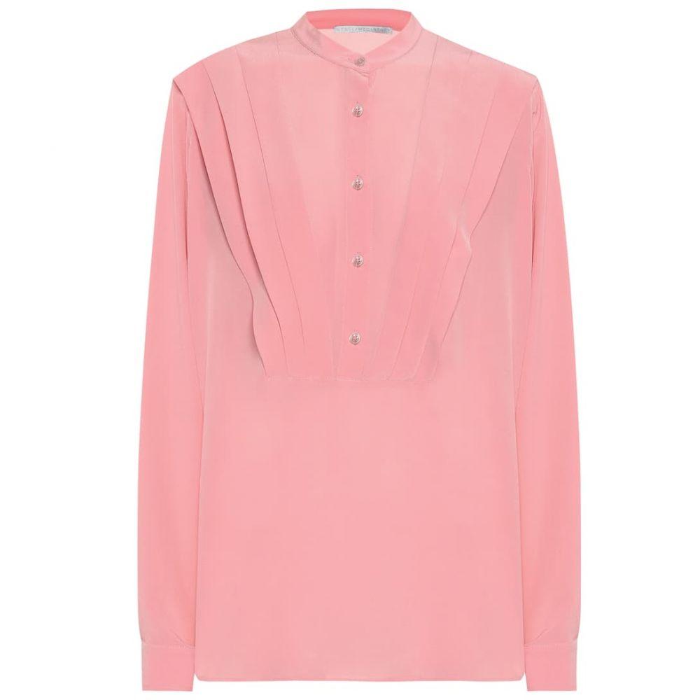 ステラ マッカートニー Stella McCartney レディース ブラウス・シャツ トップス【Pleated silk-crepe blouse】Martini Pink