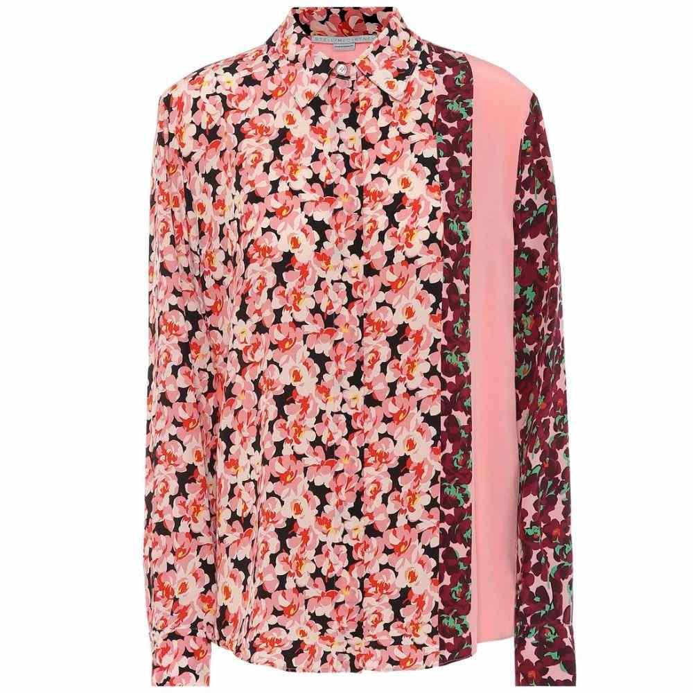 ステラ マッカートニー Stella McCartney レディース ブラウス・シャツ トップス【Floral silk blouse】Multic Blu