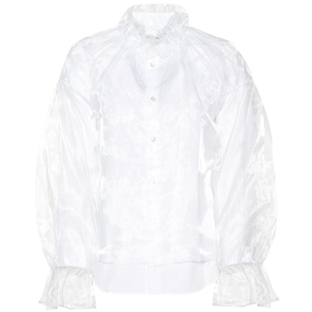 ノワール ケイ ニノミヤ Noir Kei Ninomiya レディース ブラウス・シャツ トップス【Organza and poplin blouse】White