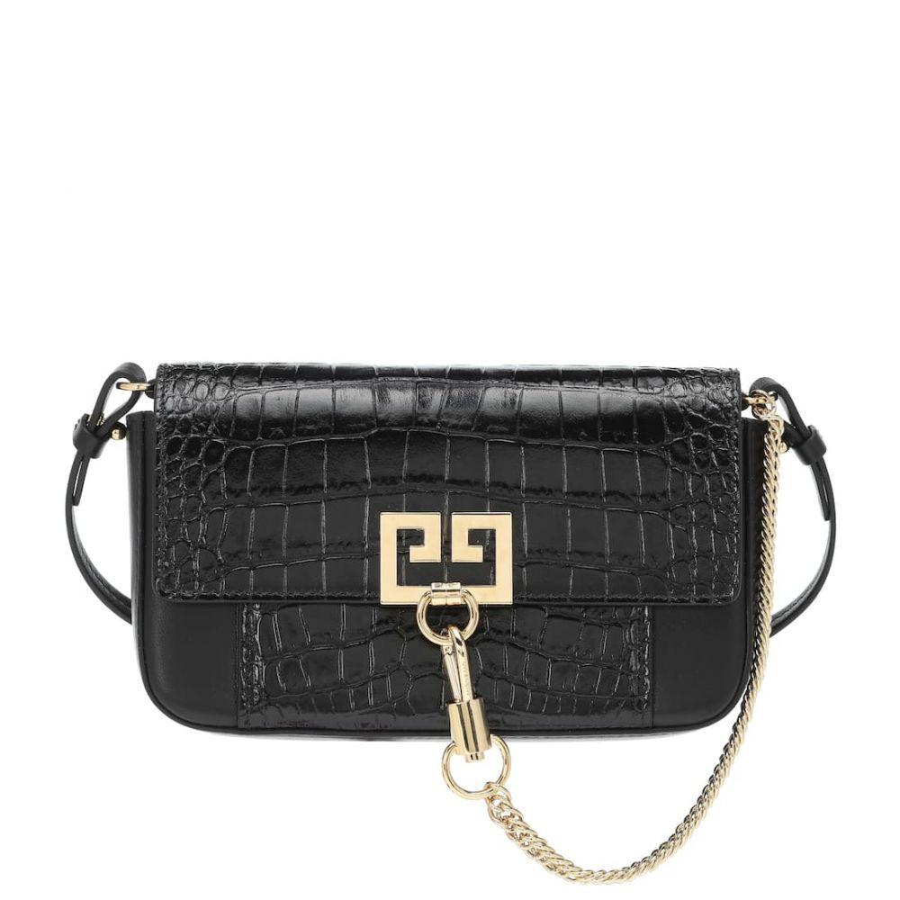 ジバンシー Givenchy レディース ショルダーバッグ バッグチャーム バッグ【Charm GV3 leather shoulder bag】Black