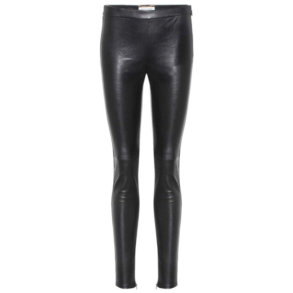 イヴ サンローラン Saint Laurent レディース スキニー・スリム レザーレギンス ボトムス・パンツ【Leather leggings】black