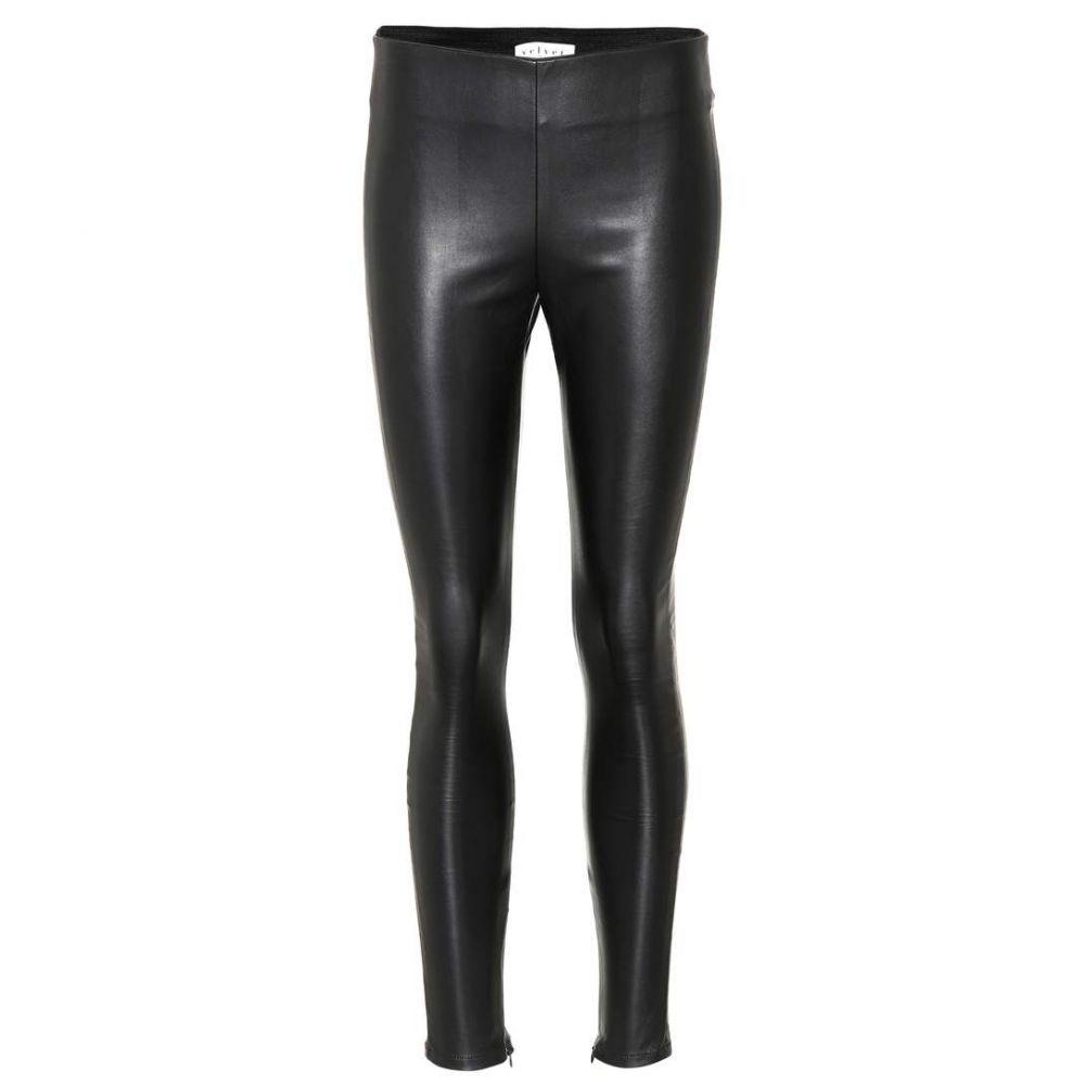 ベルベット グラハム&スペンサー Velvet レディース ボトムス・パンツ レザーレギンス【Berdine faux leather leggings】black