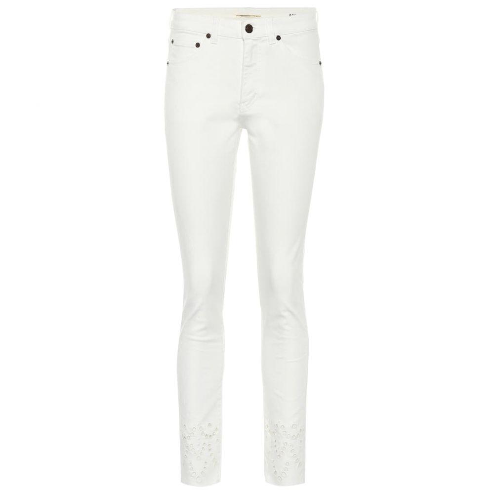 イヴ サンローラン Saint Laurent レディース ジーンズ・デニム ボトムス・パンツ【High-rise slim jeans】White Stonewash