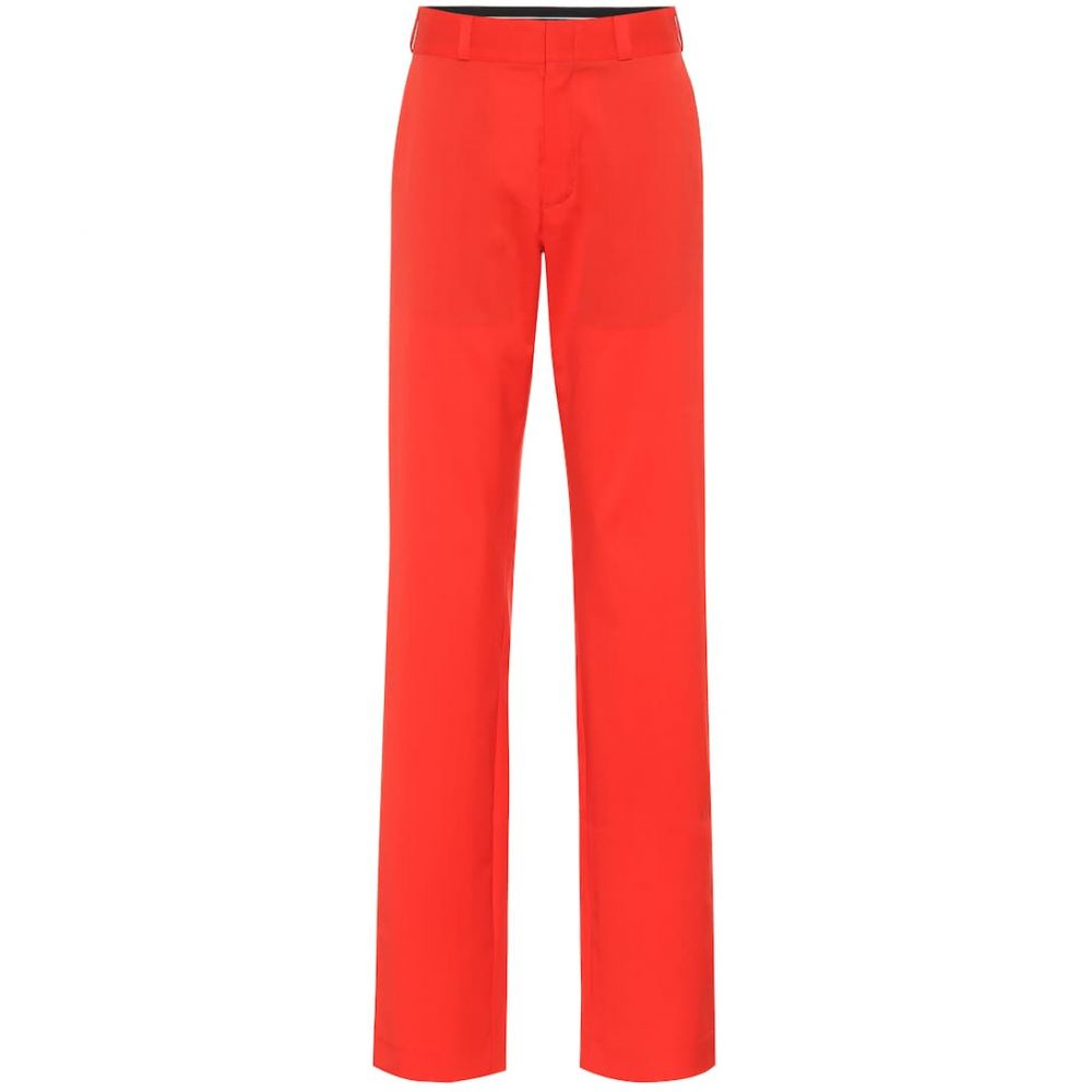 ヴェトモン Vetements レディース ボトムス・パンツ 【High-rise straight wool pants】Red