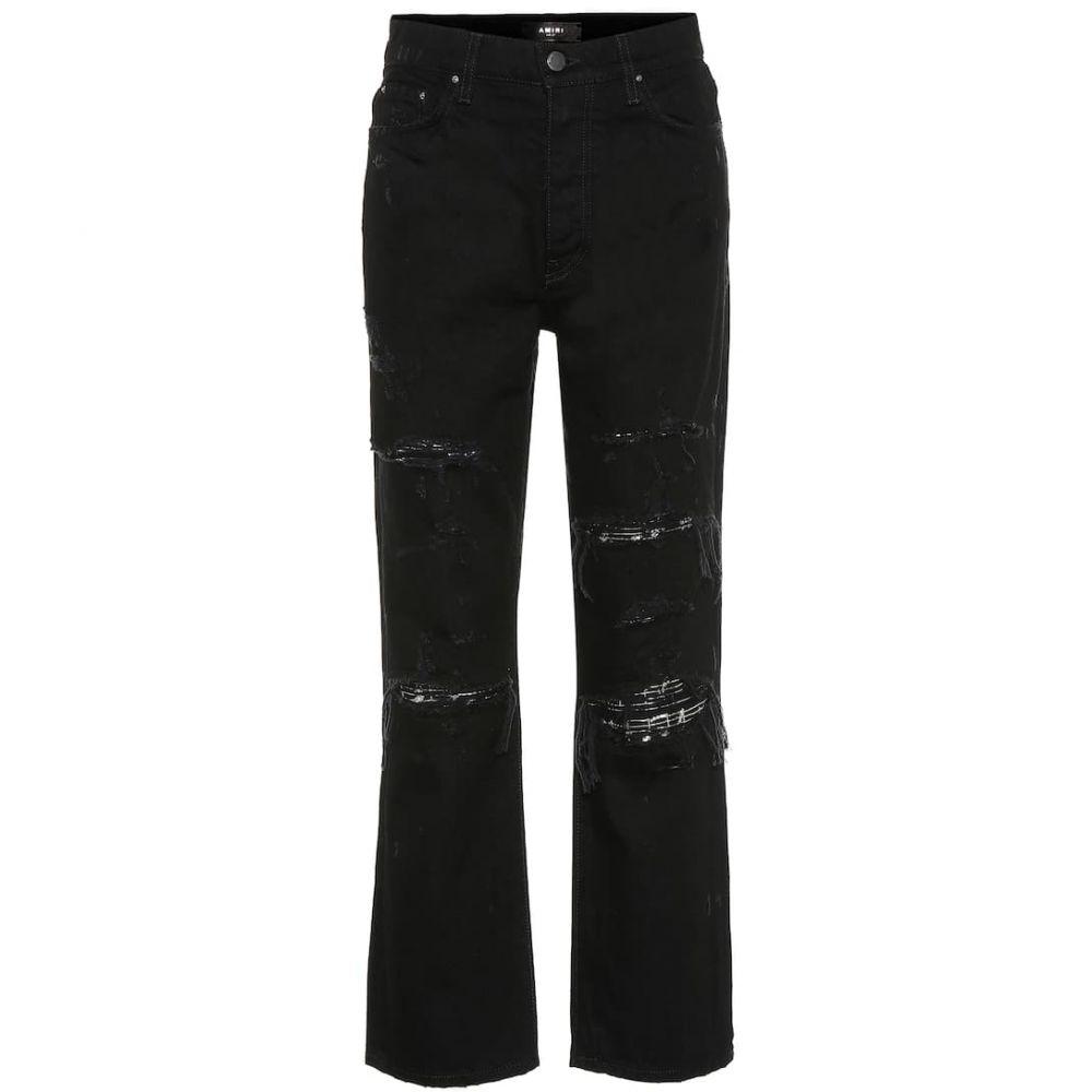アミリ Amiri レディース ジーンズ・デニム ボトムス・パンツ【Embellished high-rise straight jeans】Rough Black