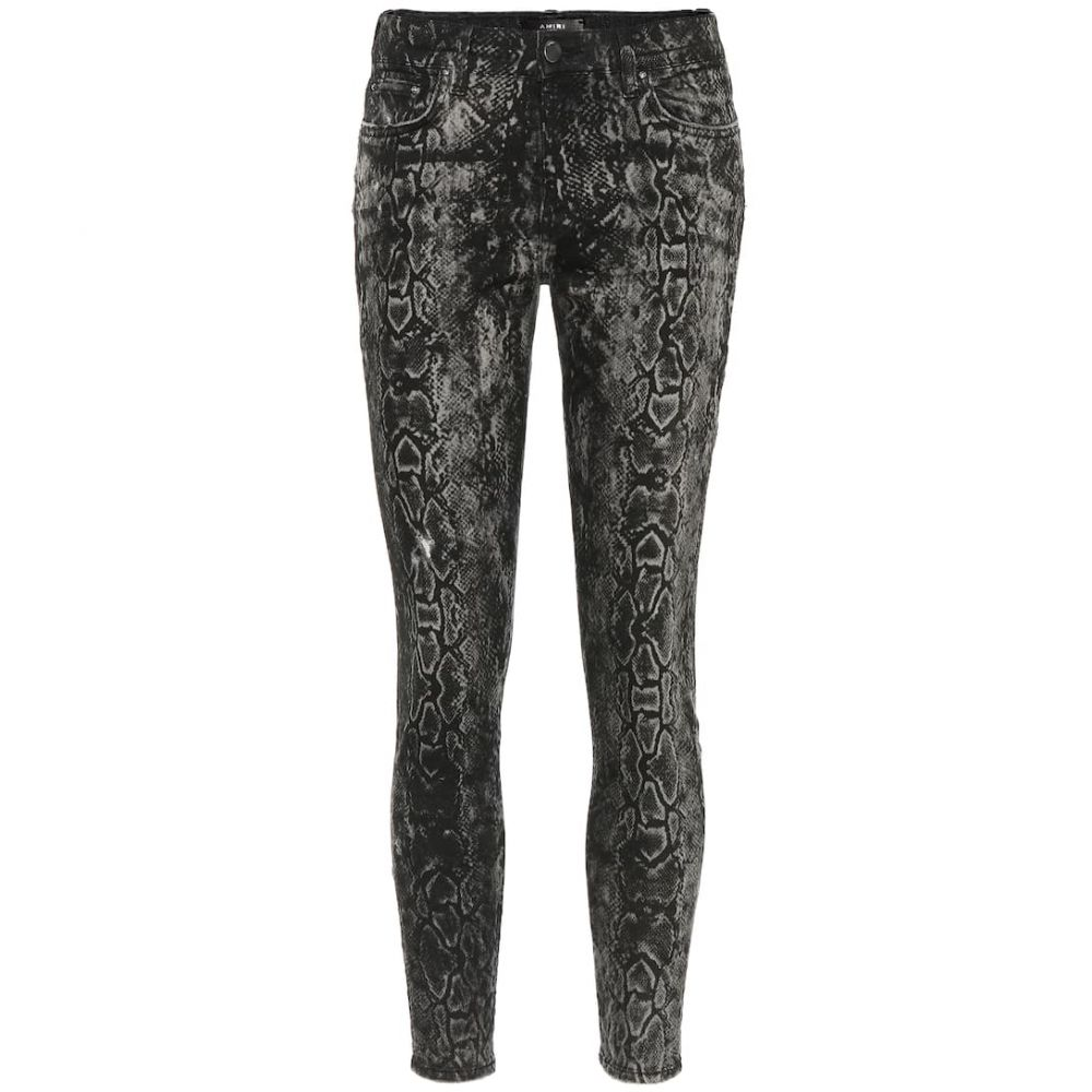 アミリ Amiri レディース ジーンズ・デニム ボトムス・パンツ【Stack snake-print skinny jeans】Rough Black