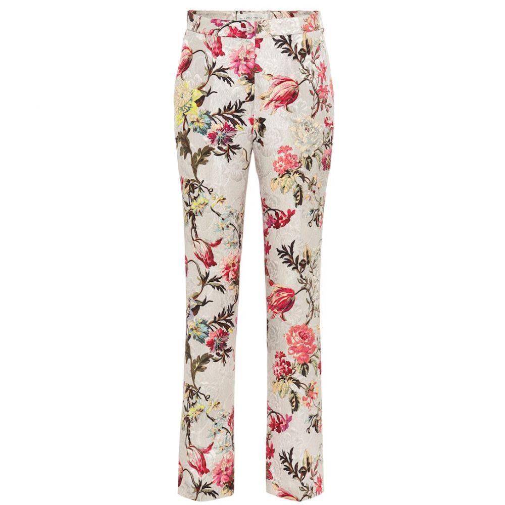 エトロ Etro レディース ボトムス・パンツ 【Floral cotton and silk-blend pants】
