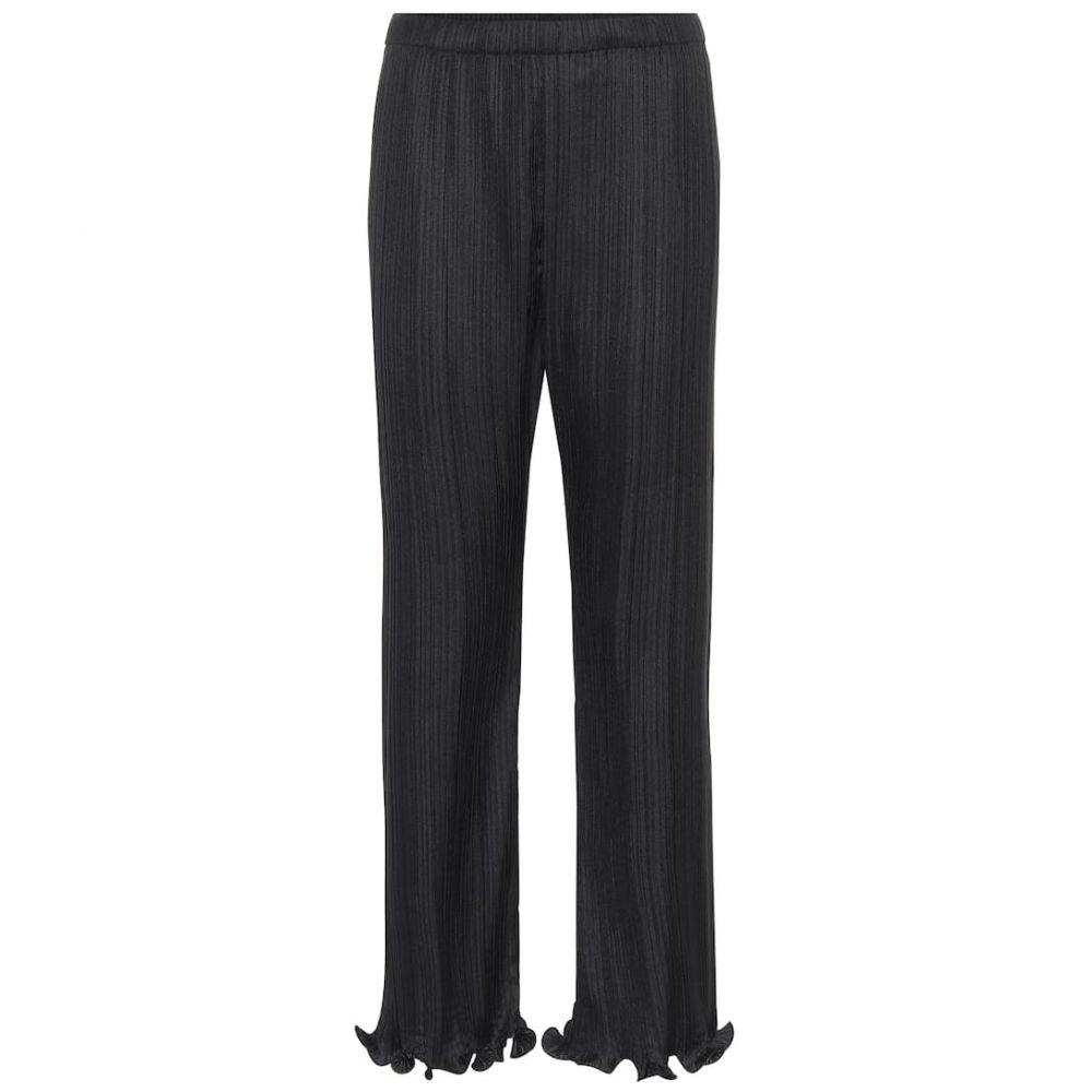 ジバンシー Givenchy レディース ボトムス・パンツ 【Pleated satin pants】Black