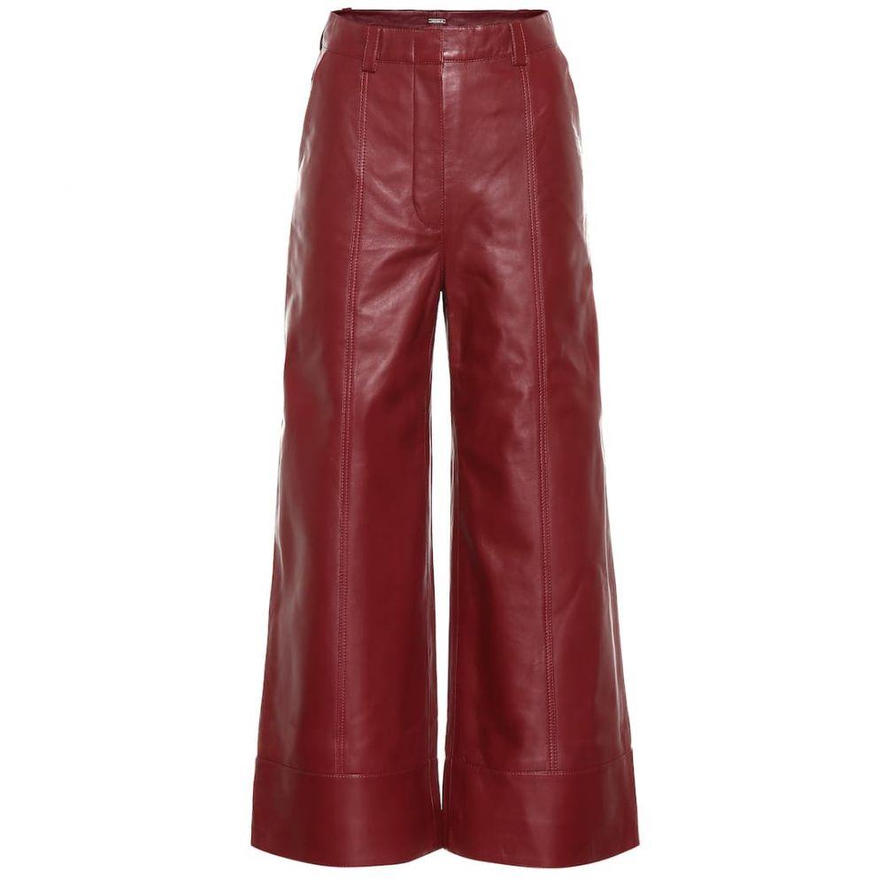 ドド バー オア Dodo Bar Or レディース ボトムス・パンツ レザーパンツ【High-rise wide-leg leather pants】Vino