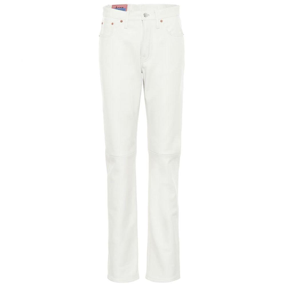 アクネ ストゥディオズ Acne Studios レディース ボトムス・パンツ レザーパンツ【Bla Konst high-rise leather pants】Off White