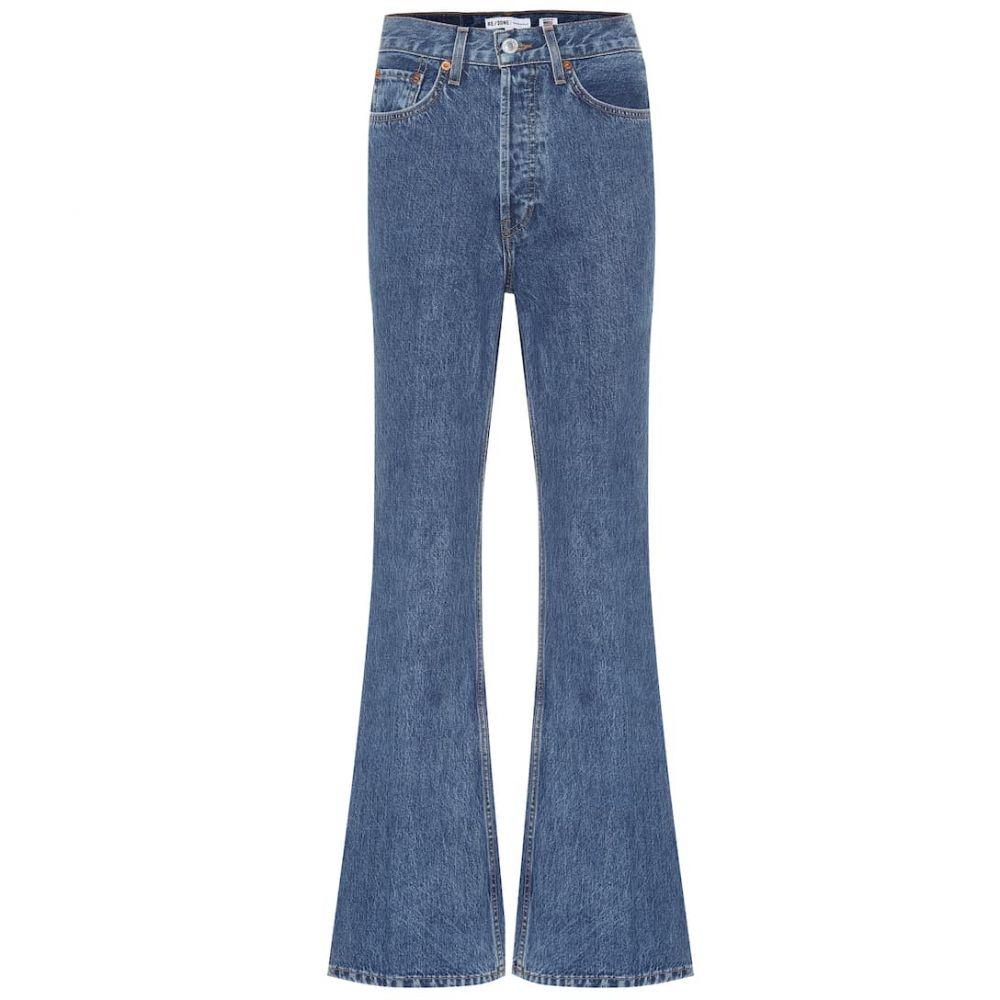 リダン Re/Done レディース ジーンズ・デニム ボトムス・パンツ【'70s utlra high-rise flared jeans】