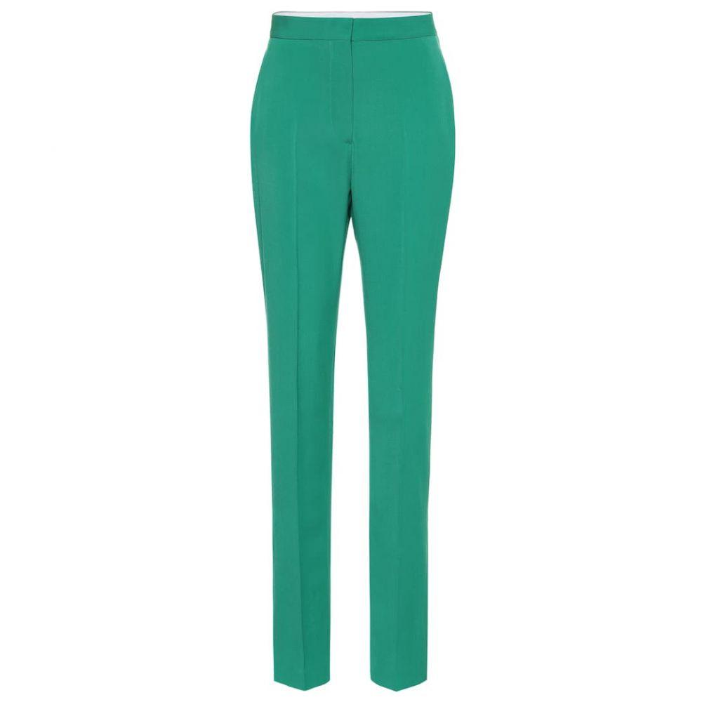 ステラ マッカートニー Stella McCartney レディース ボトムス・パンツ 【Wool high-rise pants】Sparkly Green
