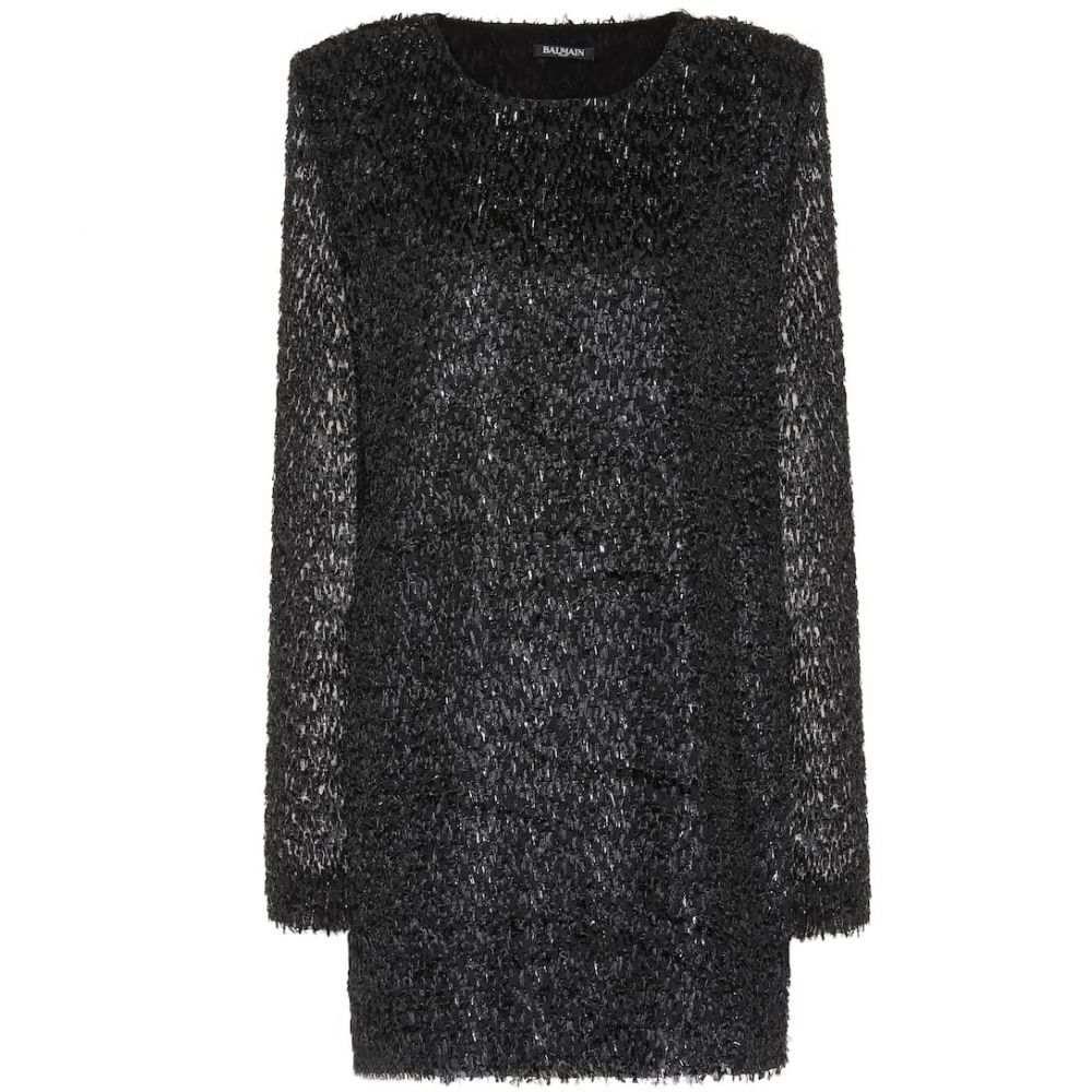 バルマン Balmain レディース パーティードレス ワンピース・ドレス【Fringed minidress】Noir