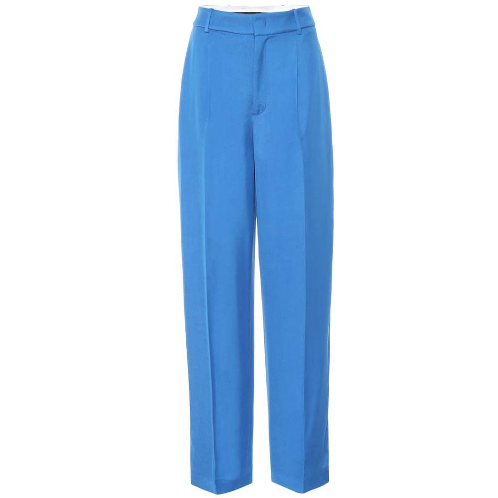 ジョゼフ Joseph レディース ボトムス・パンツ 【Quarius Liquid Twill high-rise pants】Plastic Blue