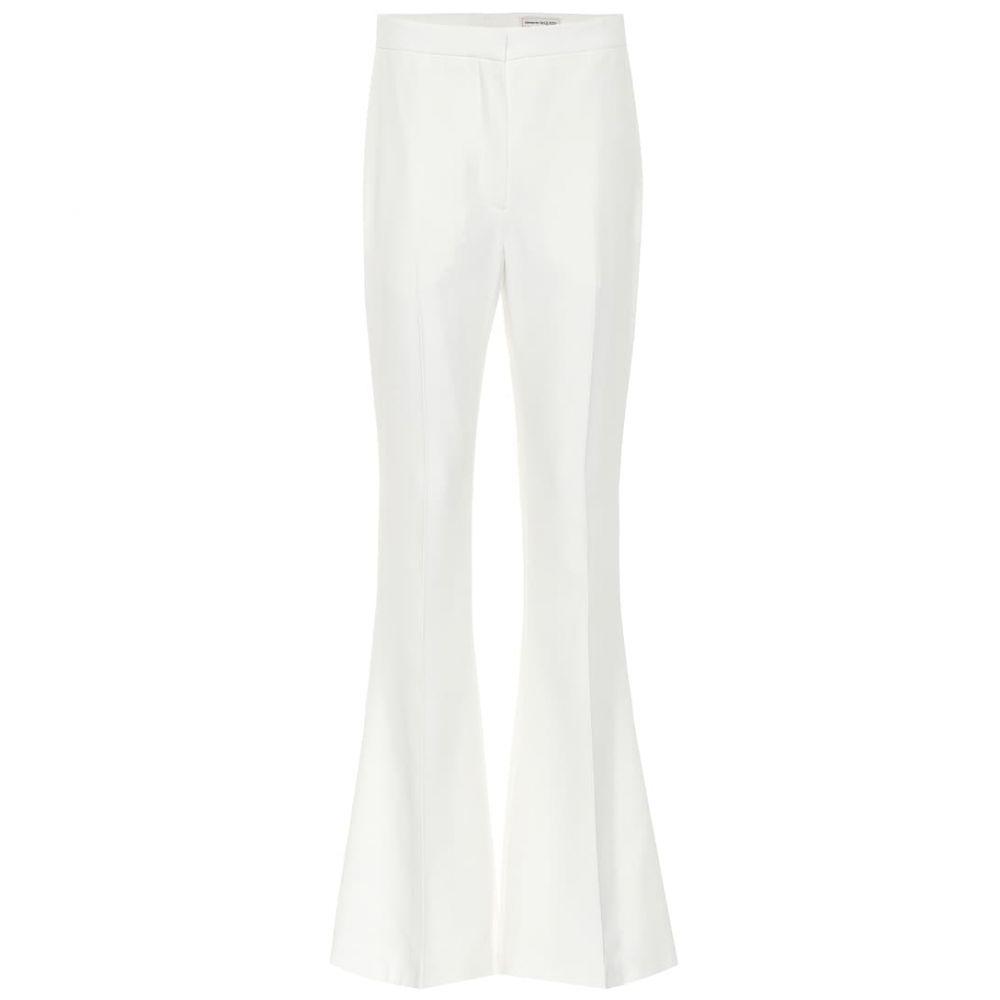 アレキサンダー マックイーン Alexander McQueen レディース ボトムス・パンツ 【Mid-rise flared crepe pants】Light Ivory