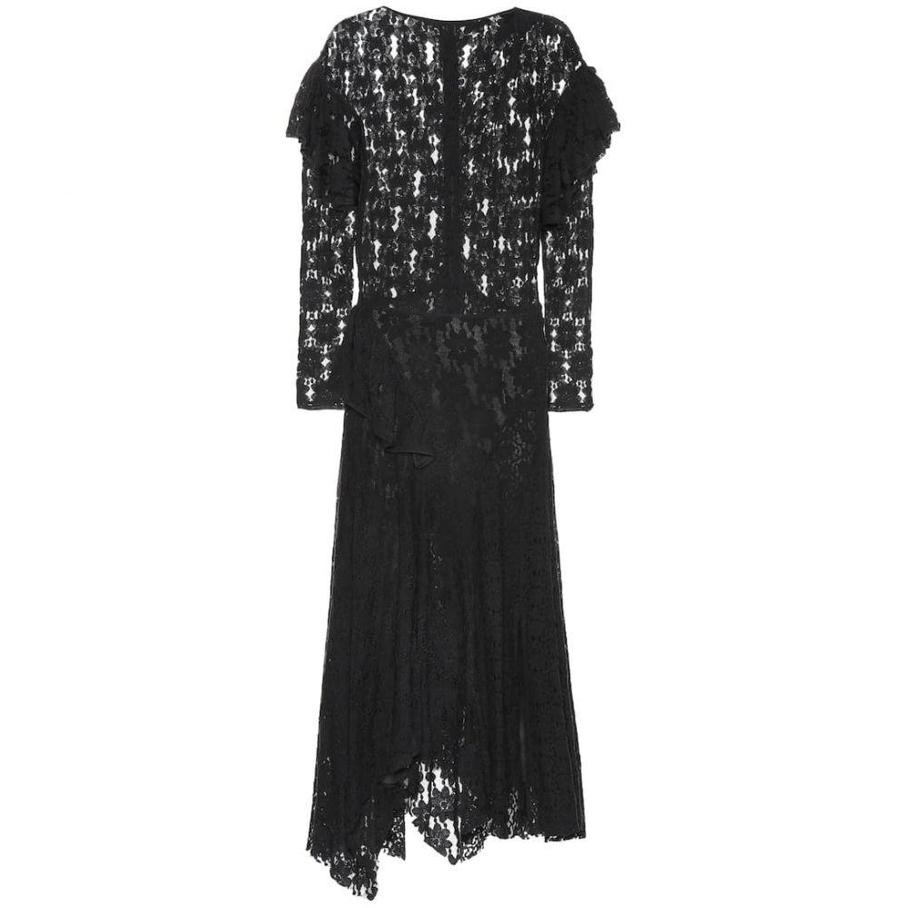 イザベル マラン Isabel Marant, Etoile レディース ワンピース ワンピース・ドレス【Vally floral cotton-lace dress】Black