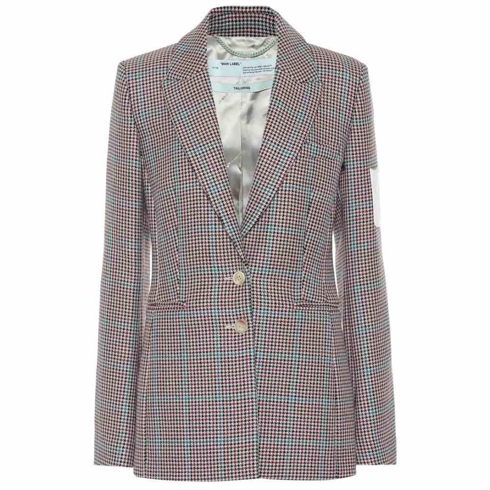 オフホワイト Off-White レディース スーツ・ジャケット アウター【checked wool blazer】All Over No Color