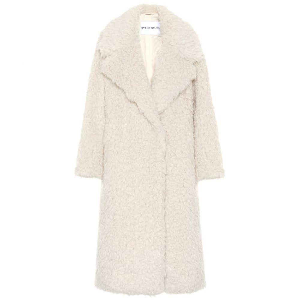 スタンドスタジオ Stand Studio レディース コート ファーコート アウター【nicoletta faux fur coat】Off White