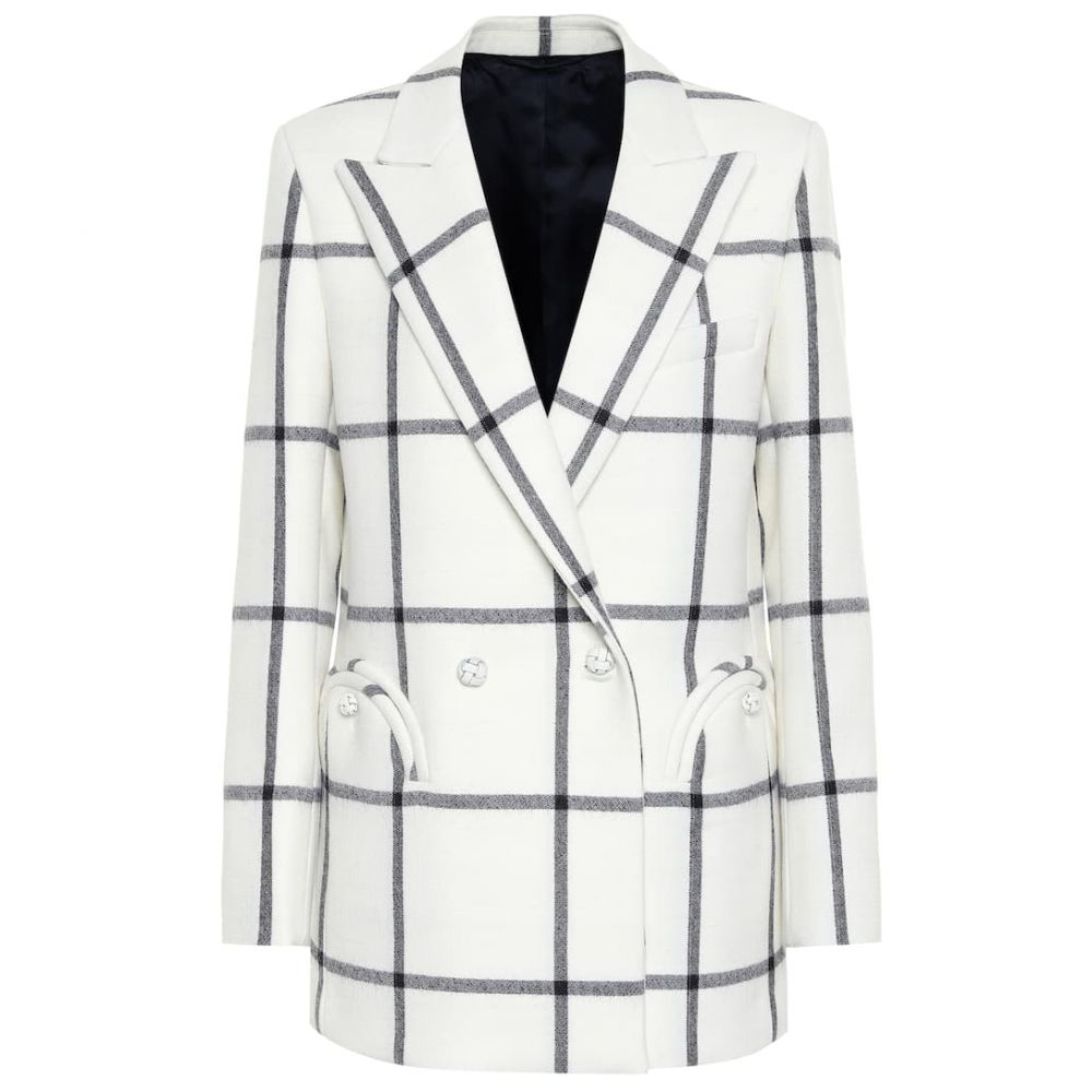 ブレイズ ミラノ Blaze Milano レディース スーツ・ジャケット アウター【everyday checked wool blazer】Cream With Black Window Frame