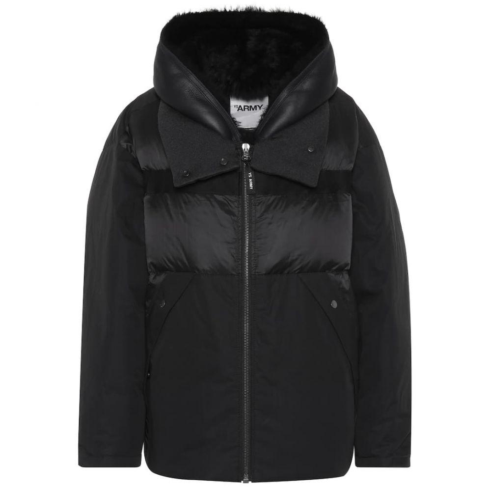 イヴ サロモン Yves Salomon レディース ダウン・中綿ジャケット アウター【army cotton-blend jacket】Black
