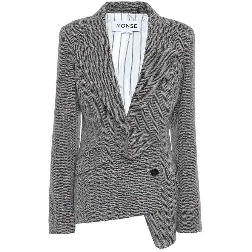 モンス Monse レディース スーツ・ジャケット アウター【wool and silk-blend tweed blazer】Camel Multi