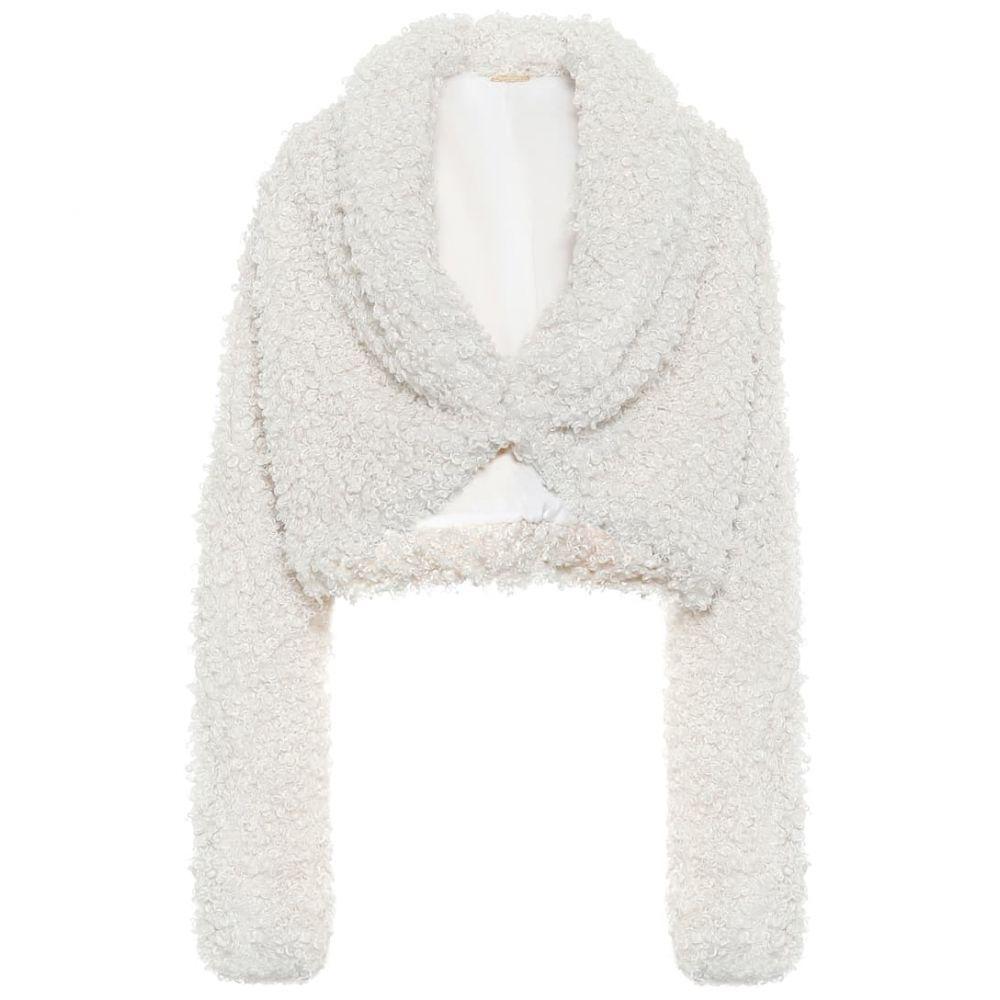 カルト ガイア Cult Gaia レディース ジャケット アウター【evie faux-fur cropped jacket】Off White