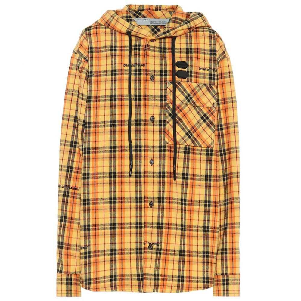オフホワイト Off-White レディース ジャケット アウター【checked cotton-blend jacket】Yellow No Color