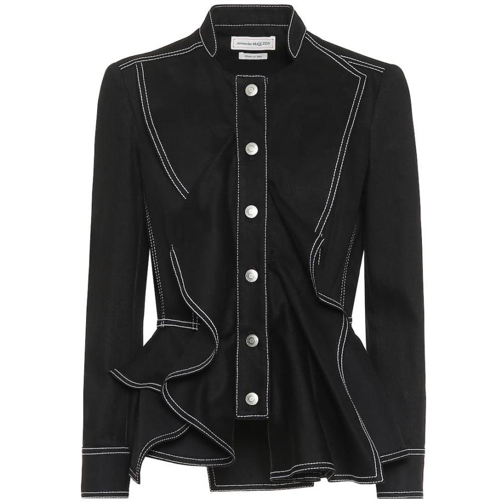 アレキサンダー マックイーン Alexander McQueen レディース ジャケット アウター【cotton peplum jacket】Black