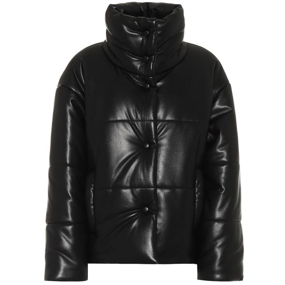 ナヌシュカ Nanushka レディース ダウン・中綿ジャケット アウター【hide faux-leather puffer jacket】Black