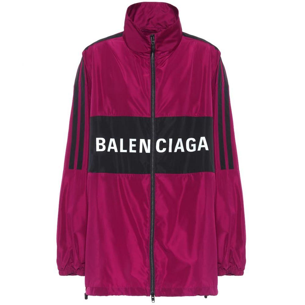バレンシアガ Balenciaga レディース ジャケット アノラック アウター【logo anorak jacket】Plum