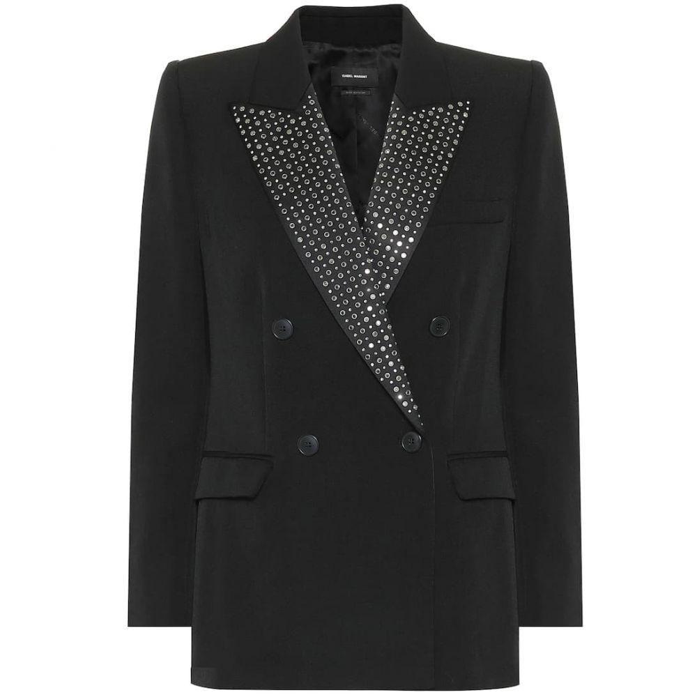 イザベル マラン Isabel Marant レディース スーツ・ジャケット アウター【paryam embellished wool blazer】Black
