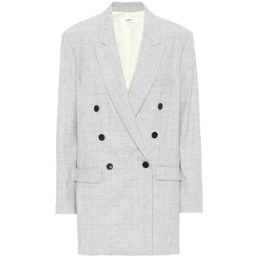 イザベル マラン Isabel Marant, Etoile レディース スーツ・ジャケット アウター【eagan checked wool-blend blazer】Light Grey