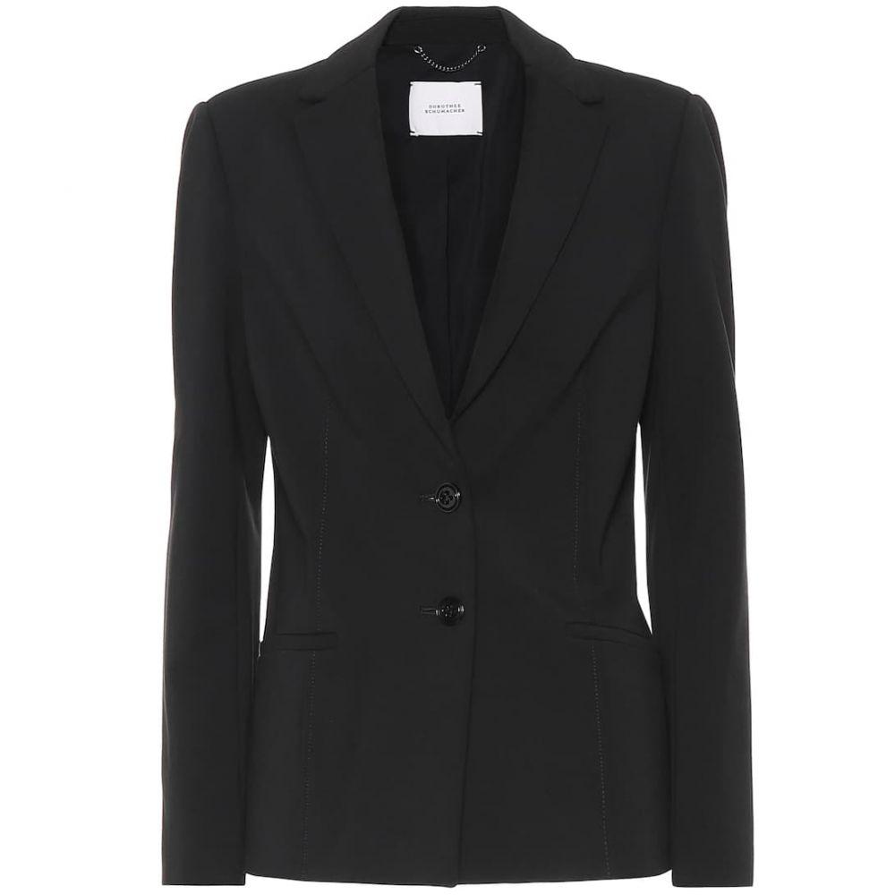 ドロシー シューマッハ Dorothee Schumacher レディース スーツ・ジャケット アウター【emotional essence jersey blazer】Pure Black