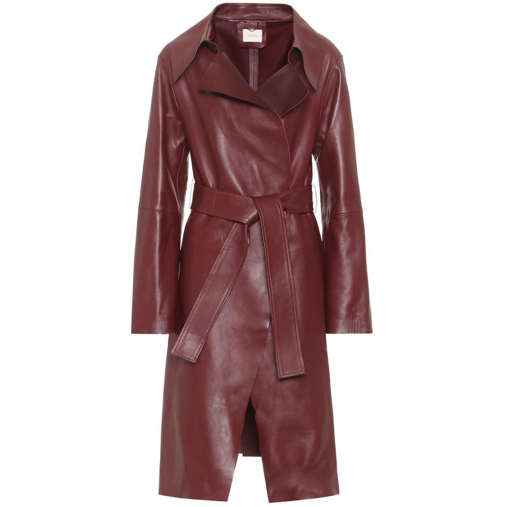 ドロシー シューマッハ Dorothee Schumacher レディース レザージャケット アウター【modern volumes leather coat】Ruby Red