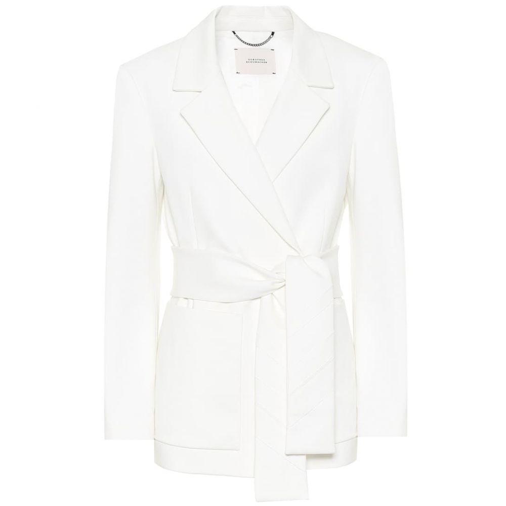 ドロシー シューマッハ Dorothee Schumacher レディース スーツ・ジャケット アウター【emotional essence jersey wrap blazer】Ivory