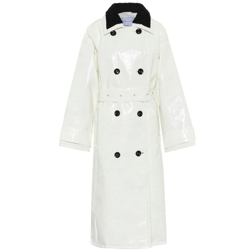 スタンドスタジオ Stand Studio レディース トレンチコート アウター【marissa coated canvas trench coat】White