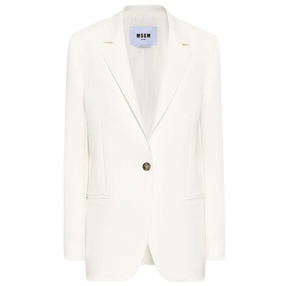 エムエスジーエム MSGM レディース スーツ・ジャケット アウター【stretch-cady blazer】Off White