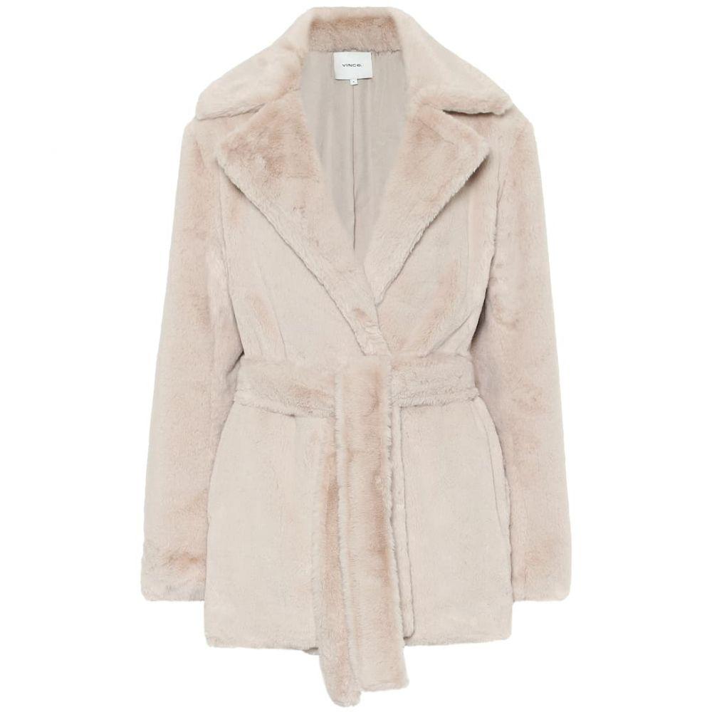 ヴィンス Vince レディース ジャケット アウター【faux fur jacket】Pearl