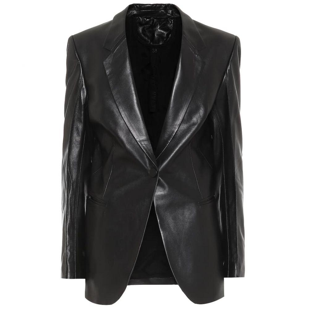 ペーター ペトロフ Petar Petrov レディース レザージャケット アウター【single-breasted leather blazer】Black