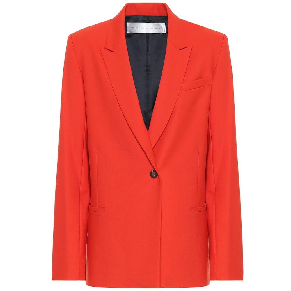 ヴィクトリア ベッカム Victoria Victoria Beckham レディース スーツ・ジャケット アウター【wool-blend blazer】Flame Red