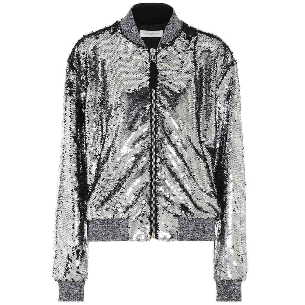 ゴールデン グース Golden Goose レディース ブルゾン ミリタリージャケット アウター【sequined bomber jacket】Silver/Black Paillettes